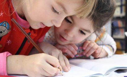 Kids Girl Pencil Drawing Notebook Study Friends